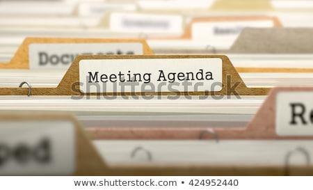 Agenda cartelle catalogo colorato documento primo piano Foto d'archivio © tashatuvango