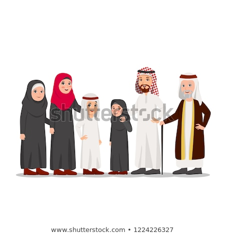 Arab Old Man and arab old woman. Muslim adult man and woman. Ara Stock photo © NikoDzhi