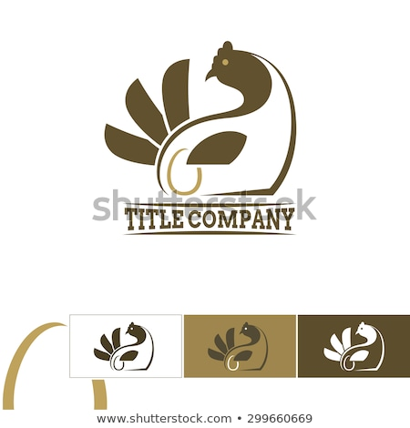 Stock photo: Chicken and egg logo for eggs production. Chicken farm emblem. P