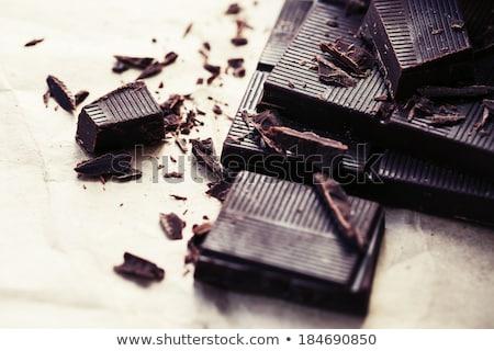 темный · шоколад · частей · иллюстрация · продовольствие · шоколадом · Бар - Сток-фото © digifoodstock