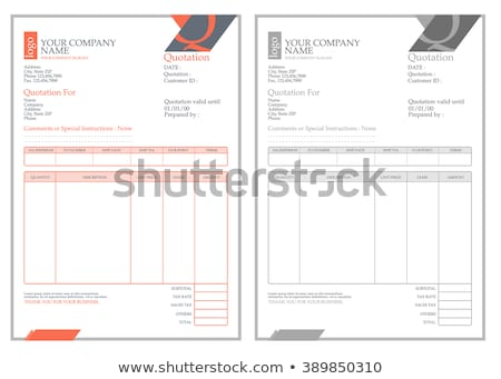 Invoice template Stock Photos Stock Images and Vectors Stockfresh