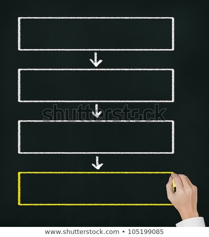 Four-Step Management on Chalkboard in the Office. Stock photo © tashatuvango
