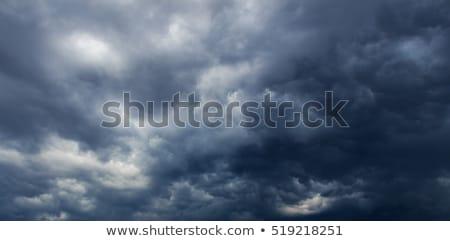 Slechte weer donkere stormachtig wolken dramatisch regen Stockfoto © stevanovicigor