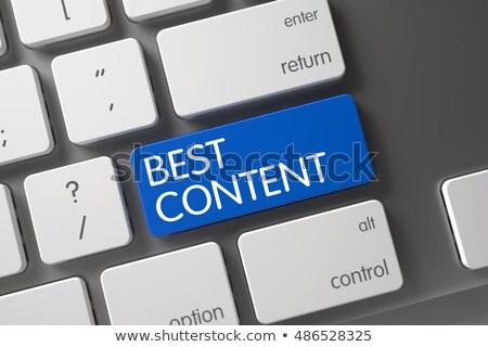 keyboard with blue button   best content 3d stock photo © tashatuvango