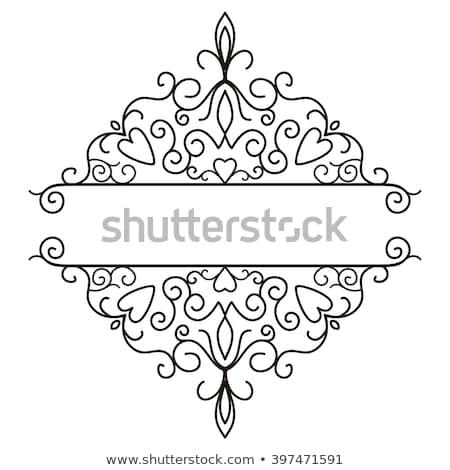 Floral Filigree Pattern Scroll Heraldry Design Stock photo © Krisdog