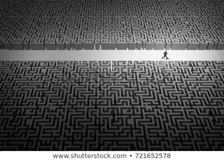 Estratégia de negócios caminho empresário líder corrida abertura Foto stock © Lightsource
