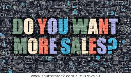 Sales Concept. Multicolor on Dark Brickwall. Stock photo © tashatuvango