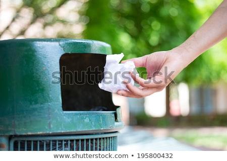 мусорное · ведро · икона · символ · иллюстрация · дизайна · веб - Сток-фото © olena