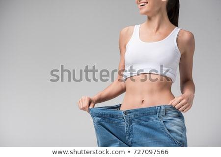 女性 · 健康食品 · 孤立した · 白 · スーパー · シェフ - ストックフォト © rastudio