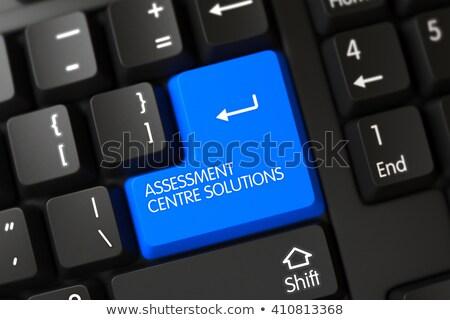 Avaliação centro soluções teclado Foto stock © tashatuvango