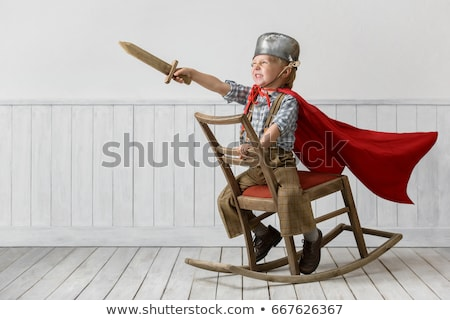 cavaleiro · desenho · animado · terno · armadura - foto stock © lenm