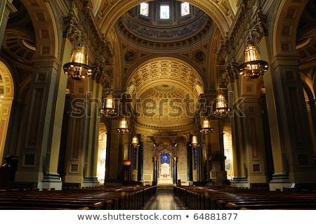 San · Francisco · église · bleu · Voyage · nuit · sunrise - photo stock © yhelfman