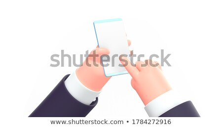 3d businesswoman with a blank card stock photo © texelart