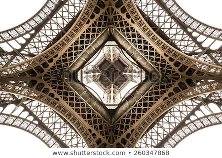 Wieża Eiffla widoku wewnątrz Paryż Francja budowy Zdjęcia stock © Givaga