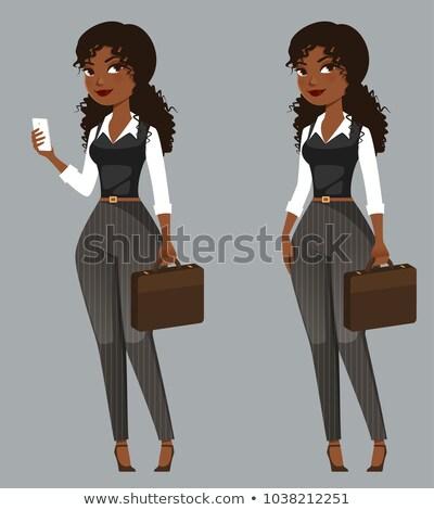 女性 · 携帯電話 · アジア · ベクトル · デザイン · 実例 - ストックフォト © nikodzhi