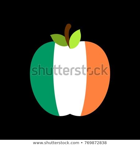 яблоко Ирландия флаг ирландский фрукты природы Сток-фото © popaukropa