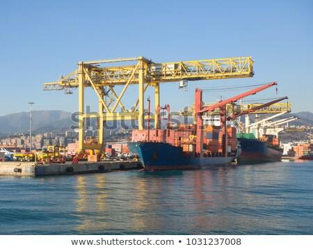 Сток-фото: большой · порта · контейнера · бизнеса · промышленности · судно