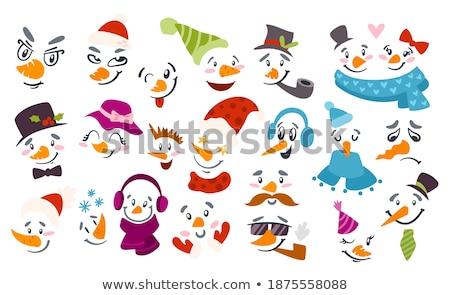 帽子 · 縞模様の · スカーフ · カラー · 女性 · パターン - ストックフォト © is2