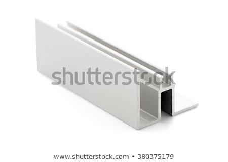 Aluminio perfil muestra aislado blanco diseno Foto stock © homydesign