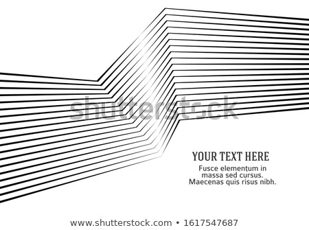 business card design with wavy lines Stock photo © SArts