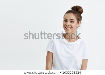 moda · kadın · ayakta · alışveriş · güzel · genç · kadın - stok fotoğraf © deandrobot