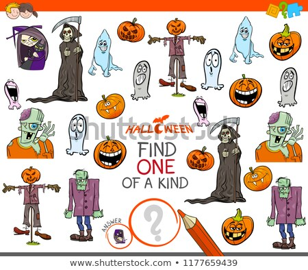 find one of a kind game with Halloween characters Stock photo © izakowski