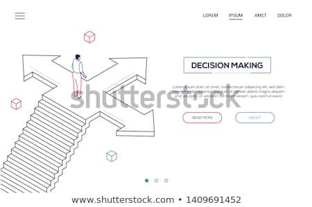La toma de decisiones moderna vector web banner Foto stock © Decorwithme