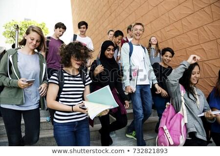 мальчика мусульманских девушки студентов ходьбе школьник Сток-фото © artisticco