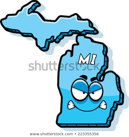 Cartoon boos Michigan illustratie naar amerika Stockfoto © cthoman