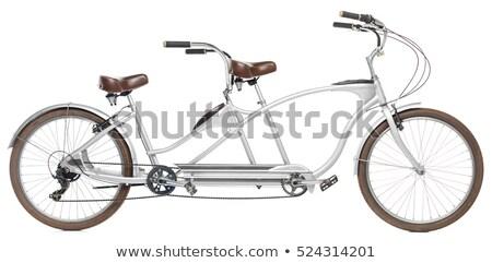 Retro tandem bicikli izolált fehér sport Stock fotó © vlad_star