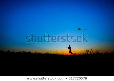 Stockfoto: Onge · Jongen · Die · Op · Strand · Het · Glimlachen · Loopt