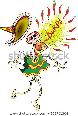 Miedo Cartoon chile ilustración mirando pimienta Foto stock © cthoman