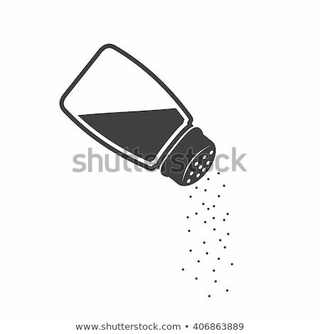 соль шейкер икона стиль изолированный белый Сток-фото © kyryloff