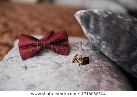 Foto stock: Noivo · conjunto · roupa · anéis · de · casamento · sapatos · abotoaduras
