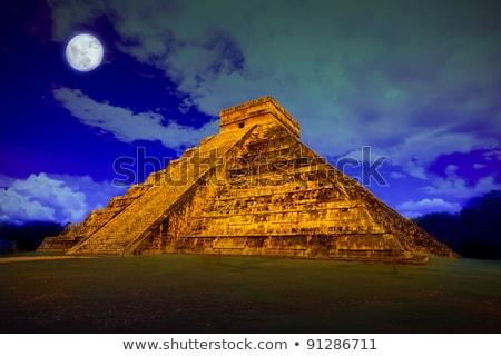 змеи Чичен-Ица пирамида Мексика змея здании Сток-фото © lunamarina