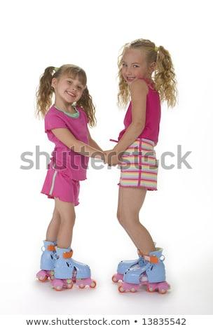 Felice suino giocare skate illustrazione sorriso Foto d'archivio © colematt
