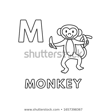 M is for educational game coloring book Stock photo © izakowski