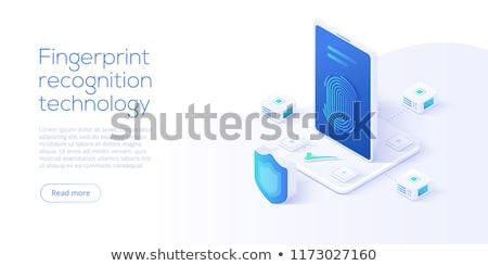 Electronic signature concept landing page. Stock photo © RAStudio