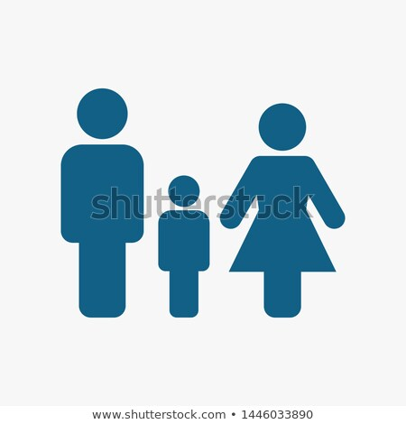 couples and family man and woman with child vector stock photo © robuart