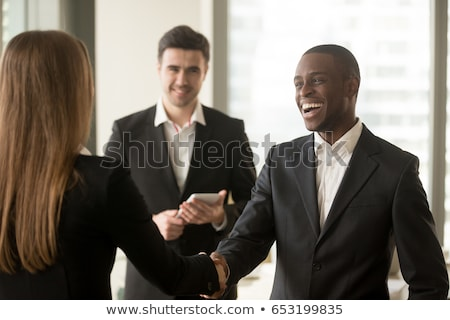 Boss of Company, Hiring New Woman Worker at Office Stock photo © robuart