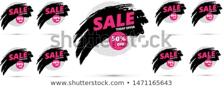 Stok fotoğraf: Save Up To 70 Percent On Black Friday Price Tags
