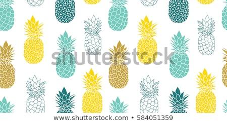 vetor · tropical · frutas · saudável · sobremesa - foto stock © user_10144511