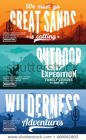Set of Horizontal Banners about wild west Stock photo © netkov1