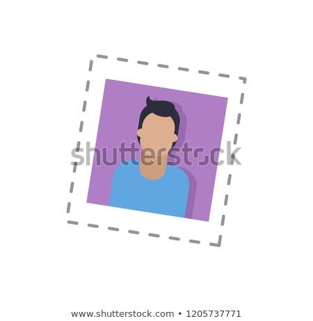 блоггер мужчины основной фотография изолированный наклейку Сток-фото © robuart
