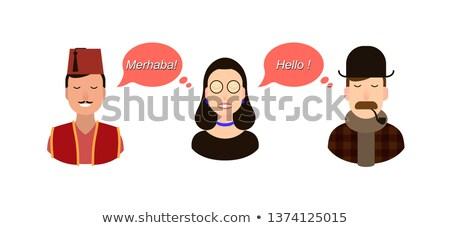 Internazionali comunicazione traduzione illustrazione estero lingua Foto d'archivio © kyryloff