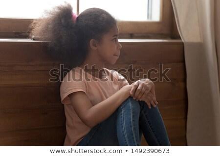 shy american bully looking away Stock photo © feedough