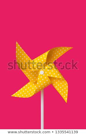 yellow pinwheel on a fuchsia background Stock photo © nito