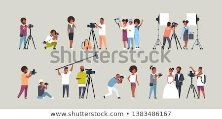 Fotografen Aufnahme Bilder Modell Produktion Freien Stock foto © Kzenon