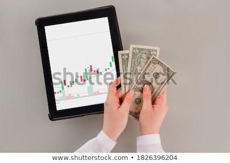 carteira · trancado · couro · cadeia · fundo · financiar - foto stock © ra2studio