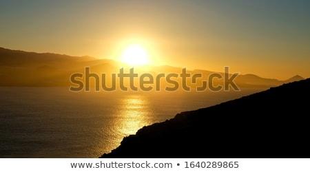 Parlak güzel gün batımı sıcak kuşak güneş doğa Stok fotoğraf © galitskaya